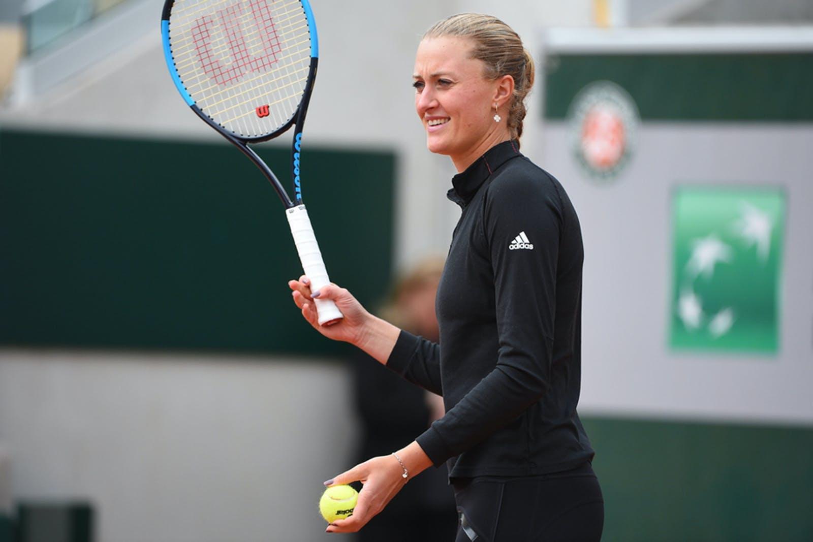 Kristina Mladenovic - Roland-Garros 2019 - entraînement