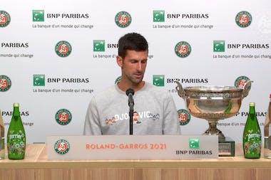 Novak Djokovic press conference finale 2021