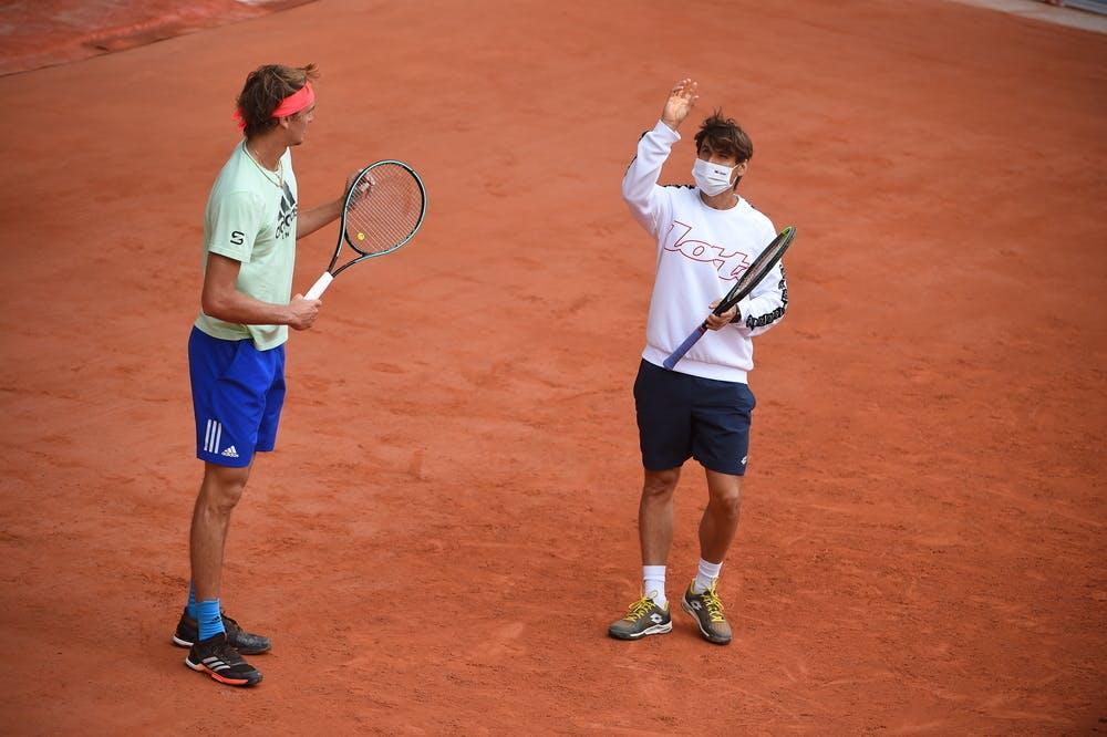 Alexander Zverev, Roland Garros 2020, practice
