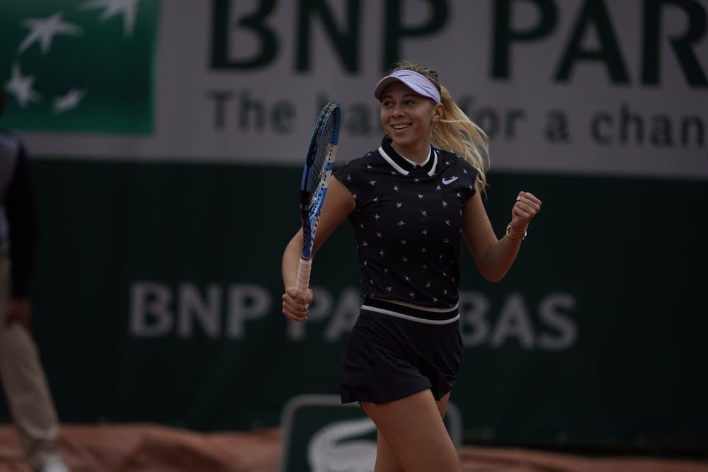 Amanda Anisimova durant Roland-Garros 2019
