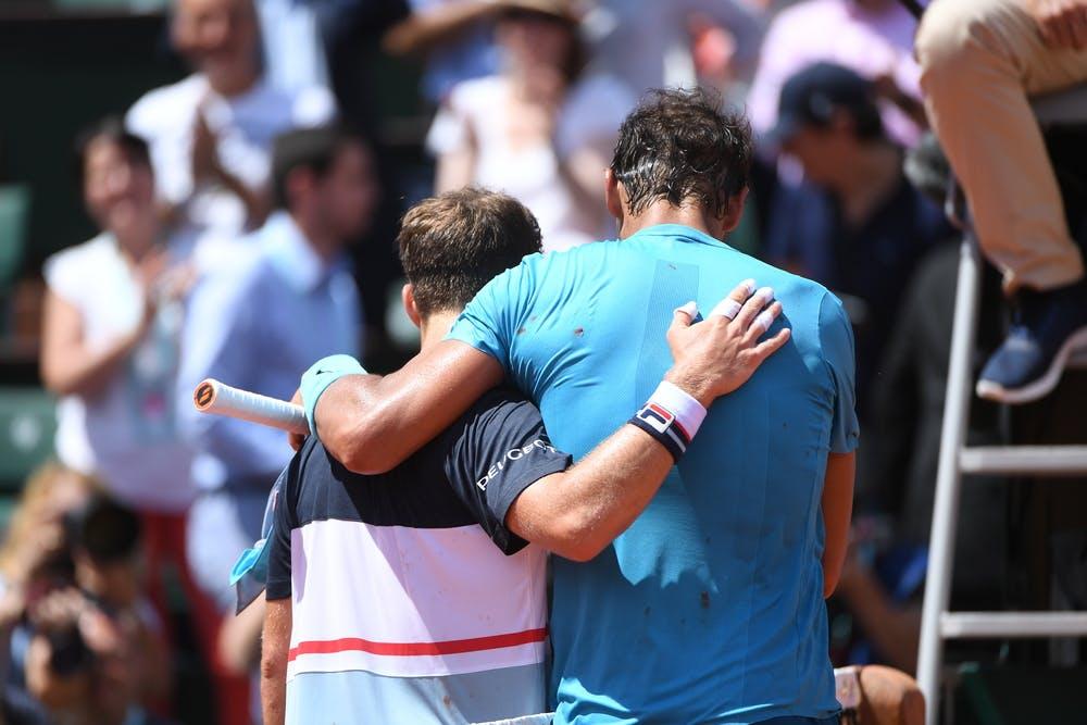 Rafael Nadal (R) and Diego Schwartzman