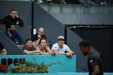 Elina Svitolina watches Gael Monfils in action