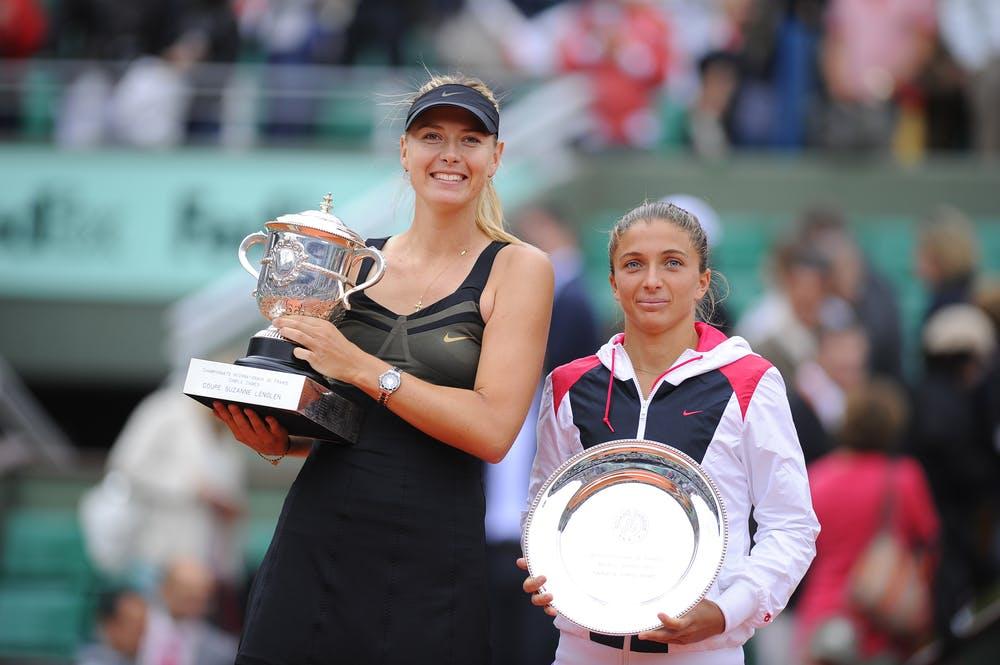 Sara Errani et Maria Sharapova, Roland-Garros 2012, finale