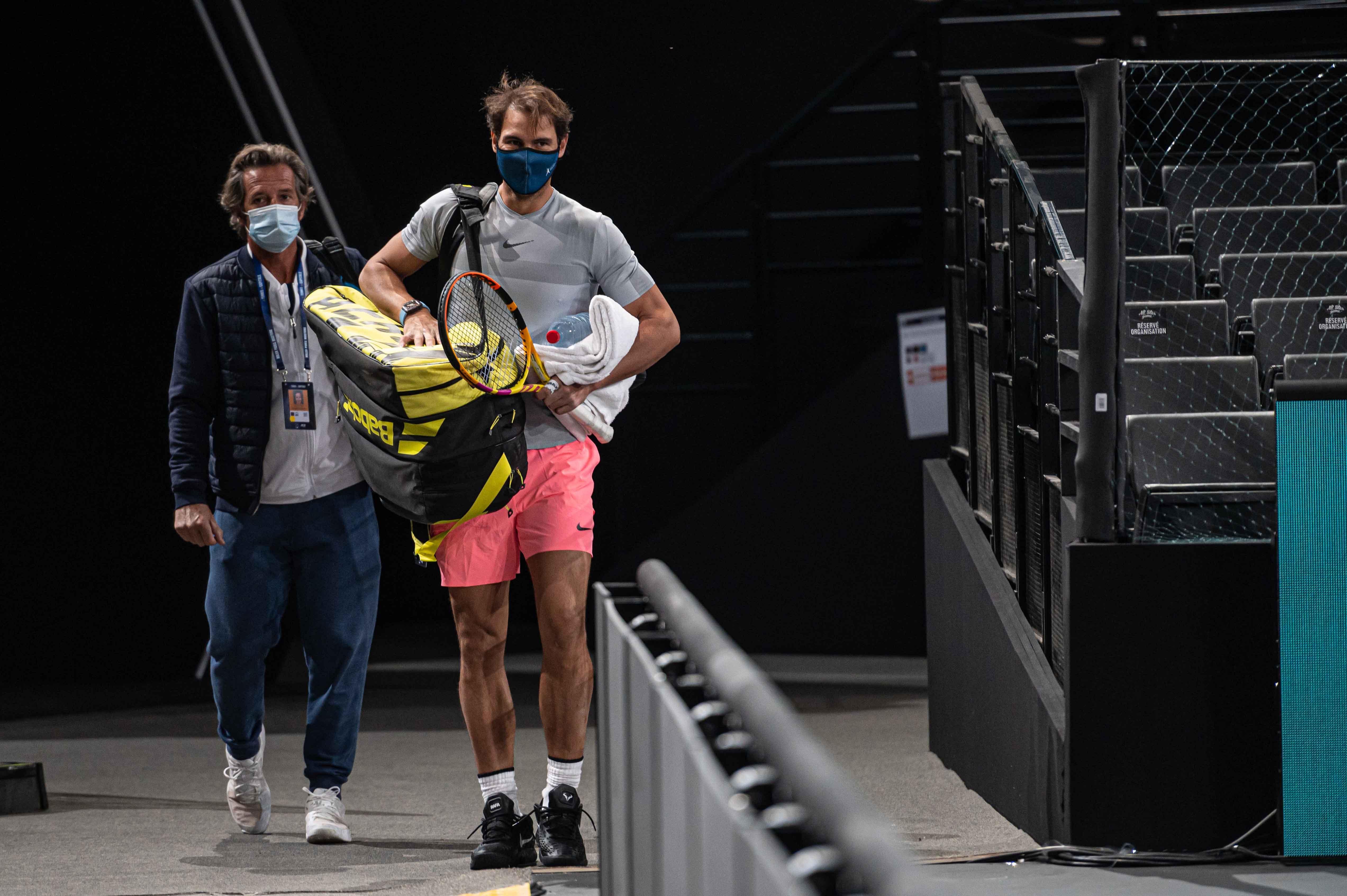Premiers pas à l'Accor Arena ce vendredi 30 octobre pour Rafael Nadal.