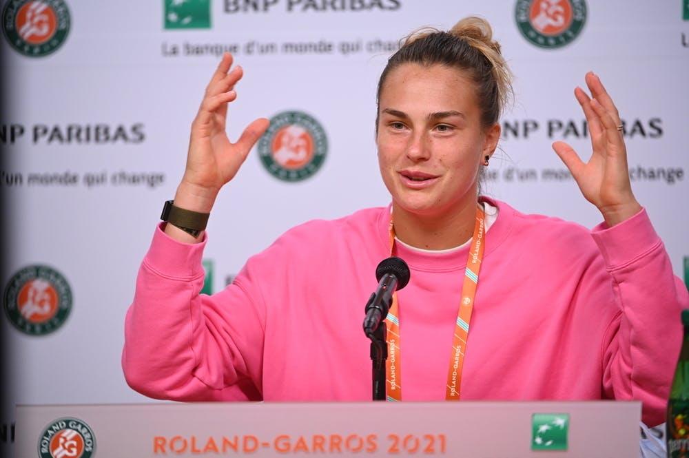 Aryna Sabalenka, Roland Garros 2021, pre-tournament press conference