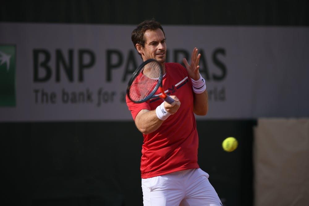 Andy Murray, Roland-Garros 2020, entraînement, jeudi 24 septembre