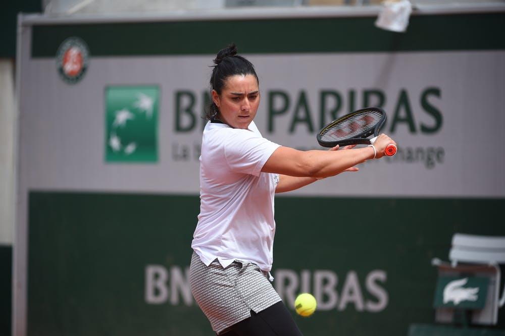 Ons Jabeur, Roland Garros 2021, practice
