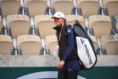 Iga Swiatek, Roland Garros 2021, first practice