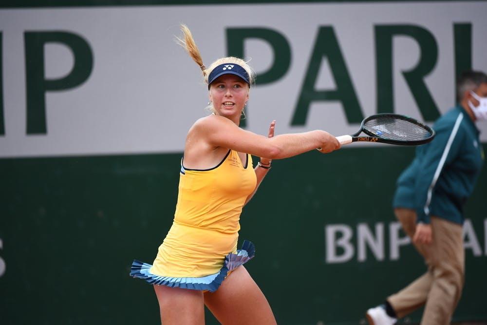Clara Tauson, Roland Garros 2020, qualifying first round