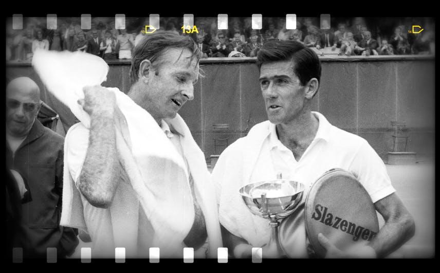 Ken Rosewall Rod Laver Roland-Garros 1968 French Open era Paris.