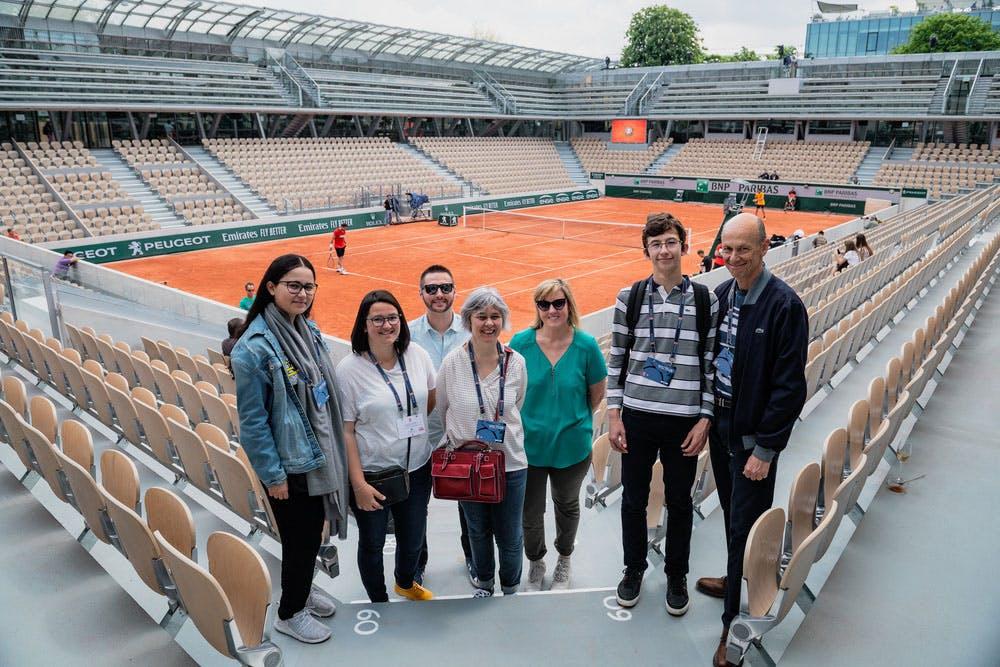 Roland-Garros 2019 - Les Enfants de Roland-Garros - Visite du court Simonne-Mathieu
