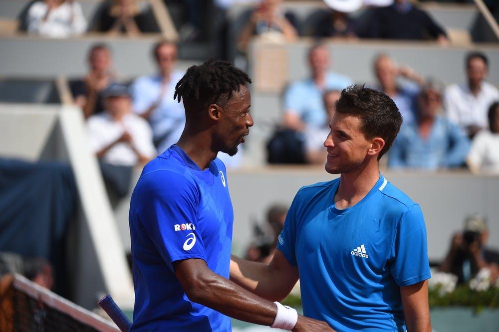 Gaël Monfils et Dominic Thiem Roland-Garros 2019