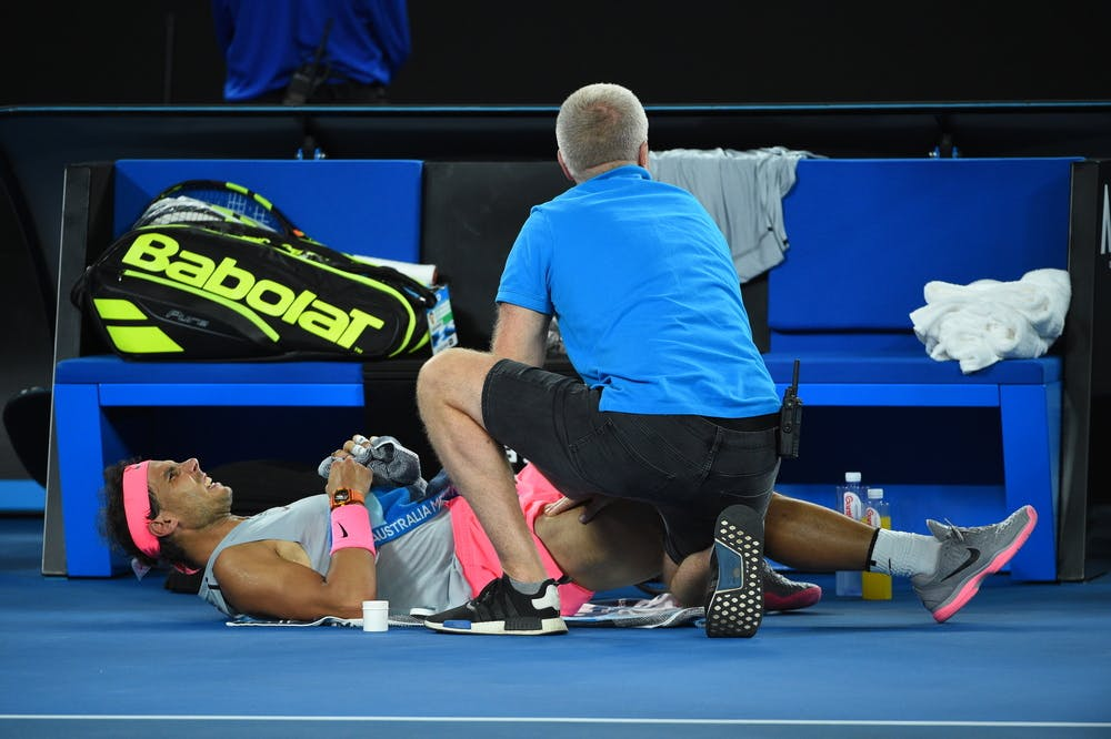 Rafael Nadal injured at the 2019 Australian Open
