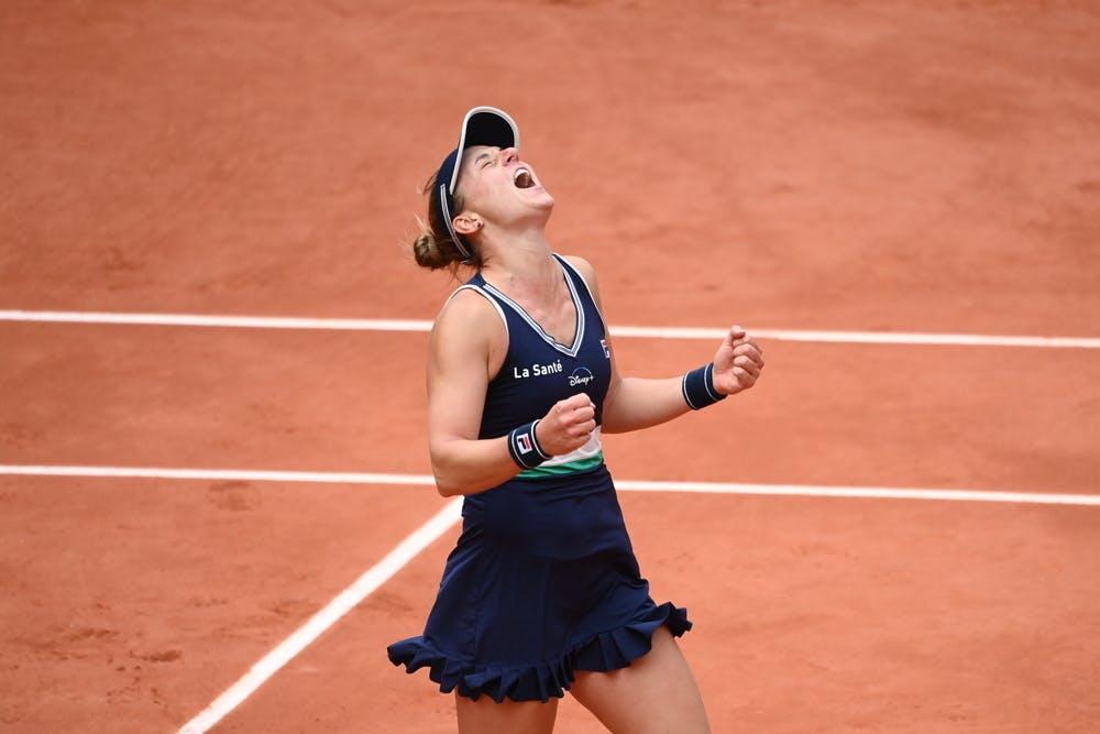 Nadia Podoroska's joy during 2020 Roland-Garros