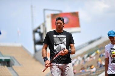 Roland-Garros 2018, entraînement, Juan Martin del Potro