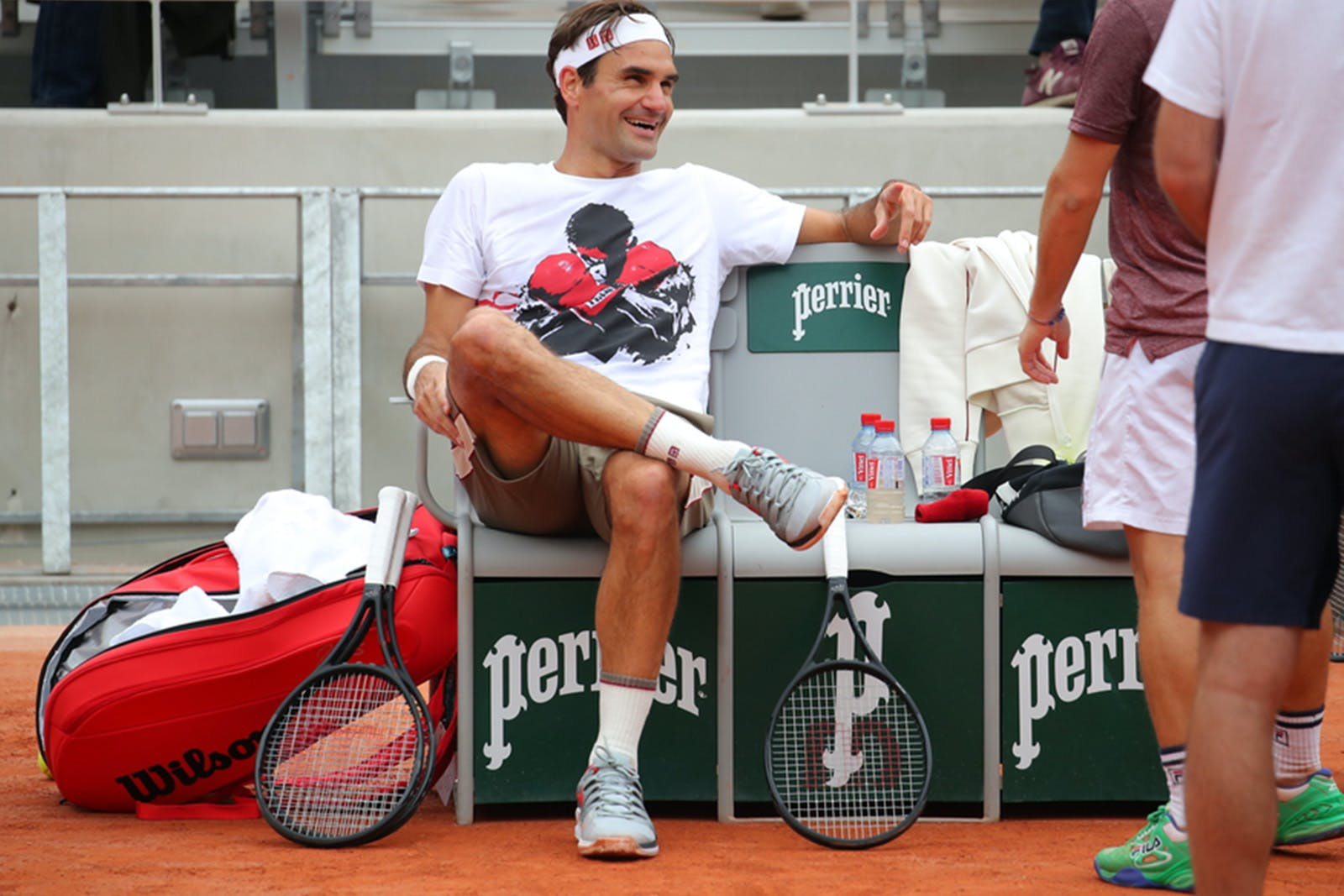Roger Federer first practice Roland-Garros 2019