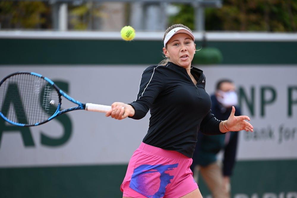 Amanda Anisimova, Roland Garros 2020, first round