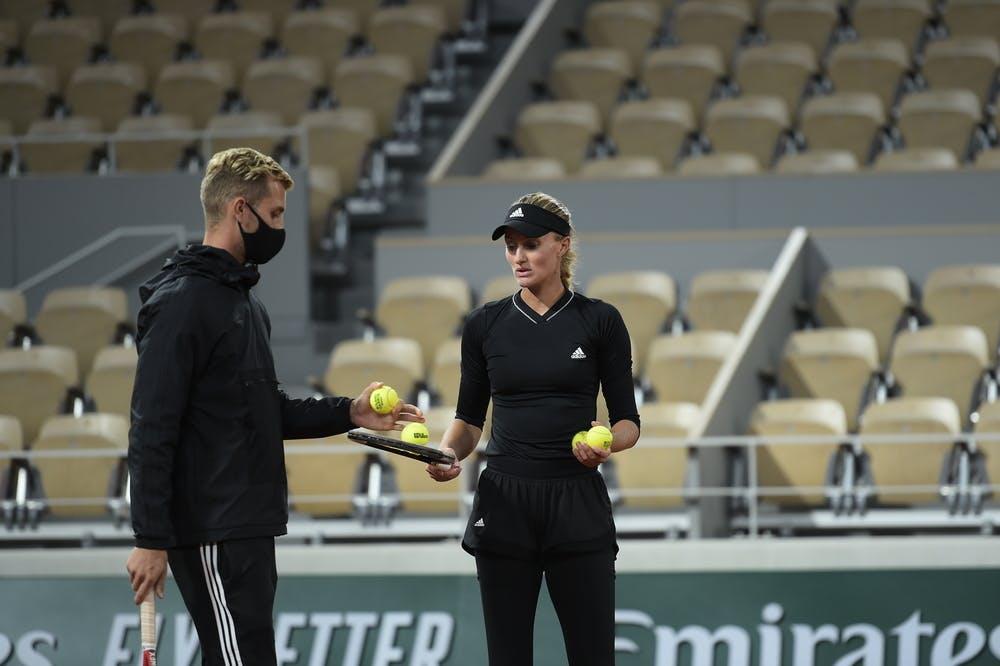 Kristina Mladenovic, Luka Mladenovic, Roland-Garros 2020, entraînement