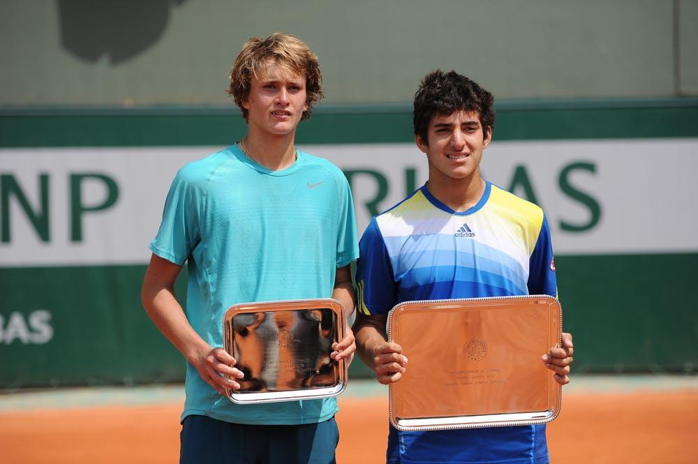 Alexander Zverev, Cristian Garin, junior final, Roland-Garros 2013