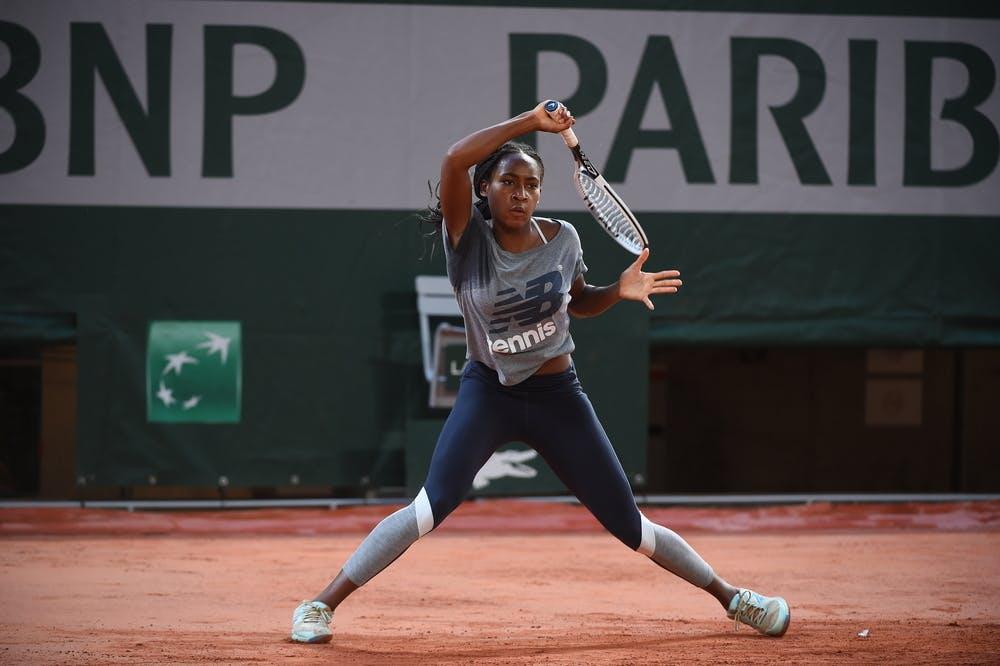 Cori Gauff, Roland-Garros 2020, entraînement