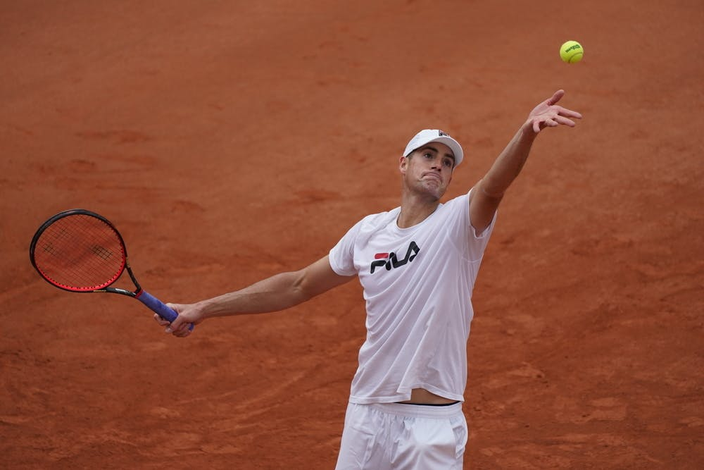 John Isner, Roland-Garros 2020, entrainement, jeudi 24 septembre