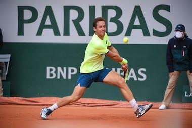 Roberto Carballes Baena, Roland Garros 2020, second round
