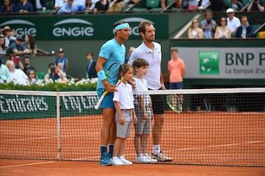 Rafael Nadal contre Richard Gasquet pendant Roland-Garros 2018