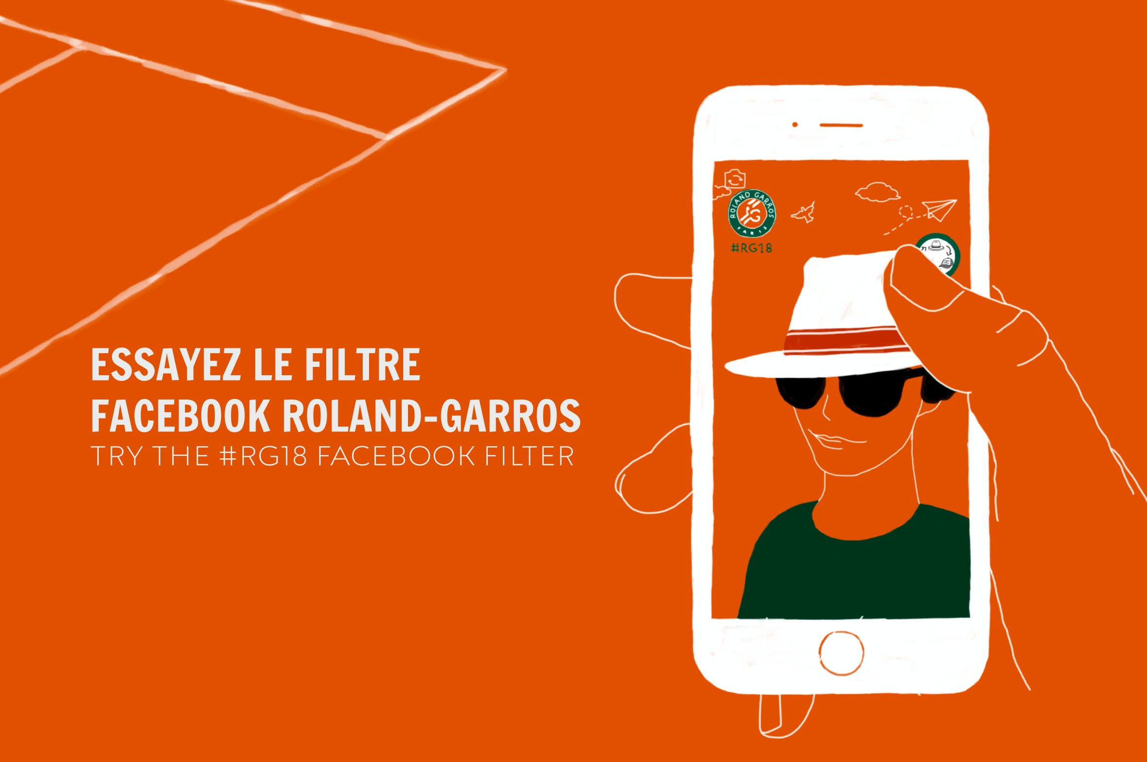 filtre facebook Roland-Garros 2018