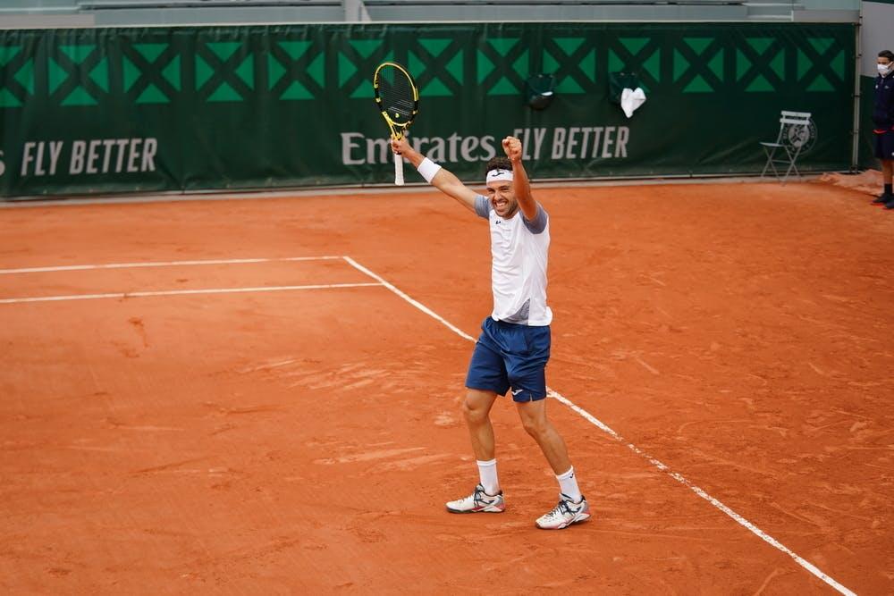 Marco Cecchinato, Roland-Garros 2020, 1er tour