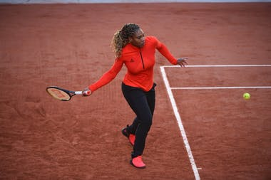 Serena Williams, Roland-Garros 2020, entraînement, court Philippe-Chatrier
