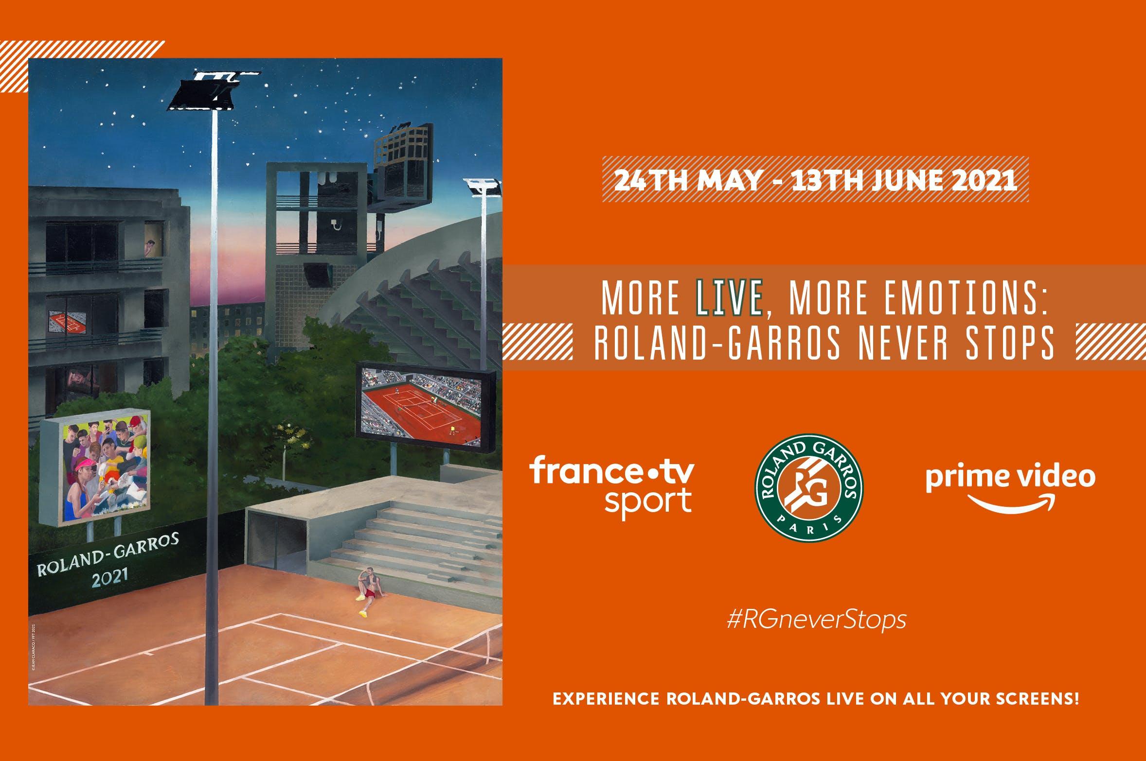 Diffusion TV Roland-Garros 2021