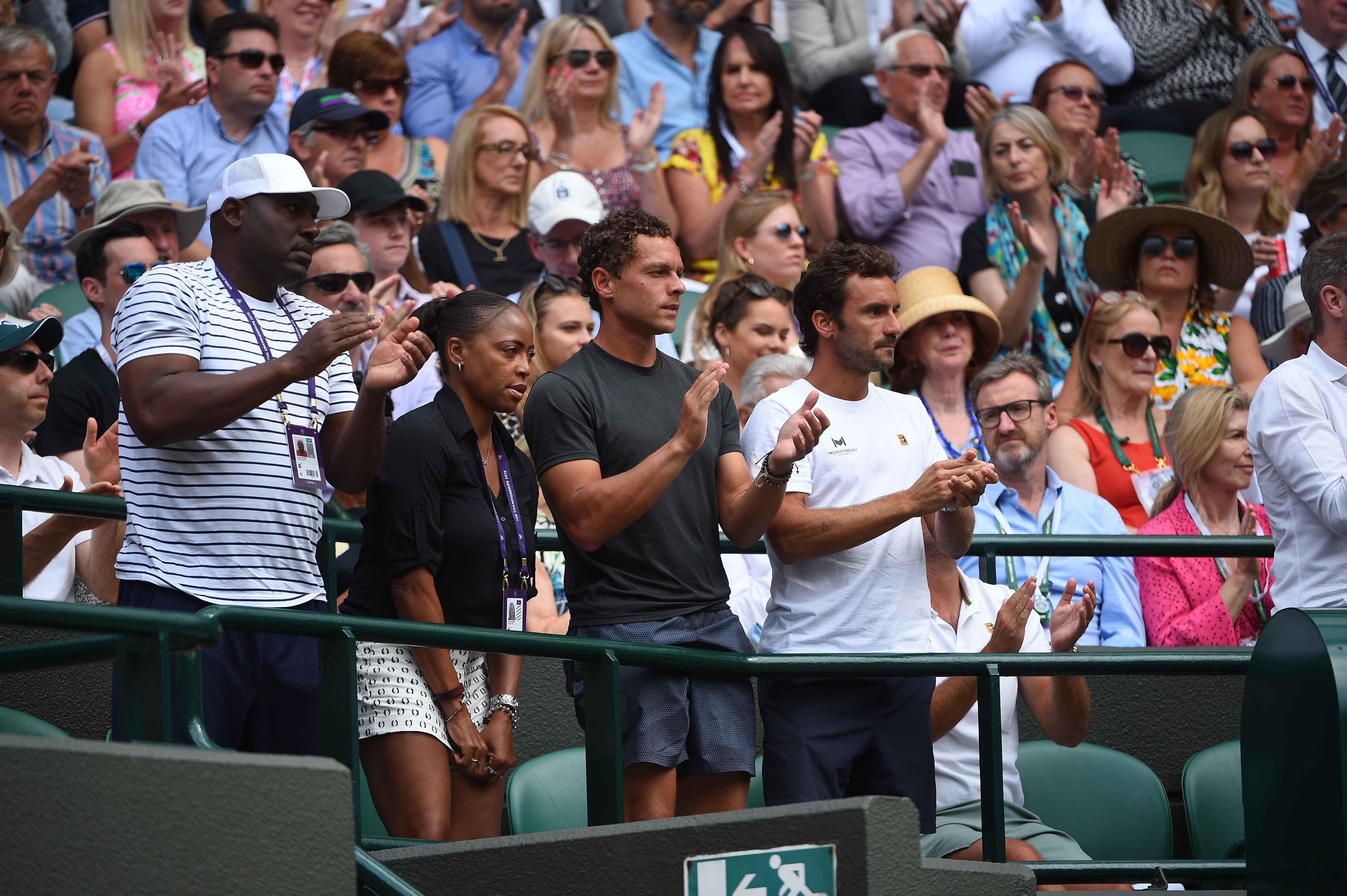 Cori Gauff's box at Wimbledon 2019