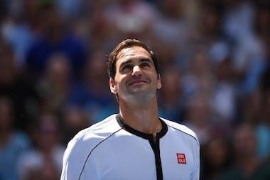 Roger Federer smiling