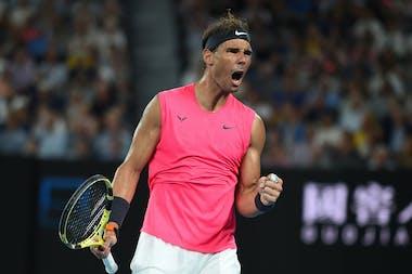 Rafael Nadal screaming in Melbourne 2020