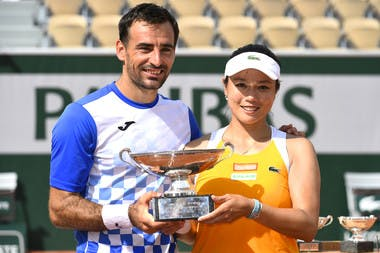 Roland-Garros 2018, Latisha Chan, Ivan Dodig, double mixte, trophée, trophy