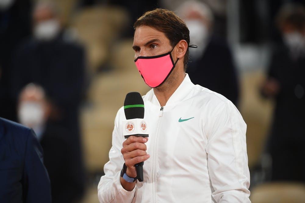Rafael Nadal, Roland Garros 2020, final, speech