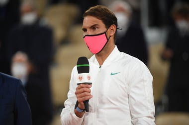 Rafael Nadal, Roland Garros 2020, final, speech
