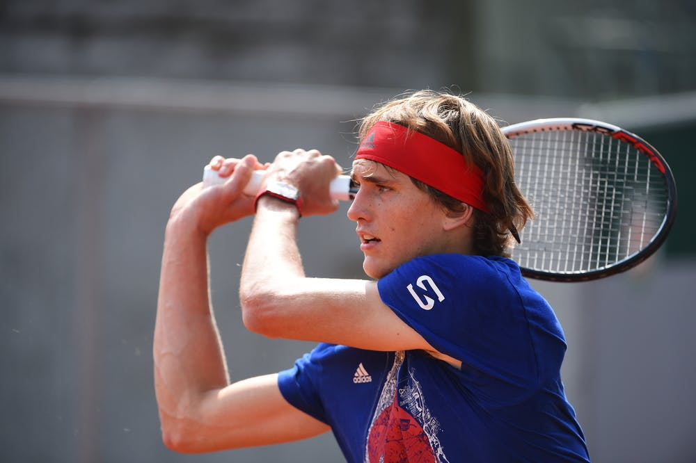 Alexander Zverev practice entraînement Roland-Garros 2018
