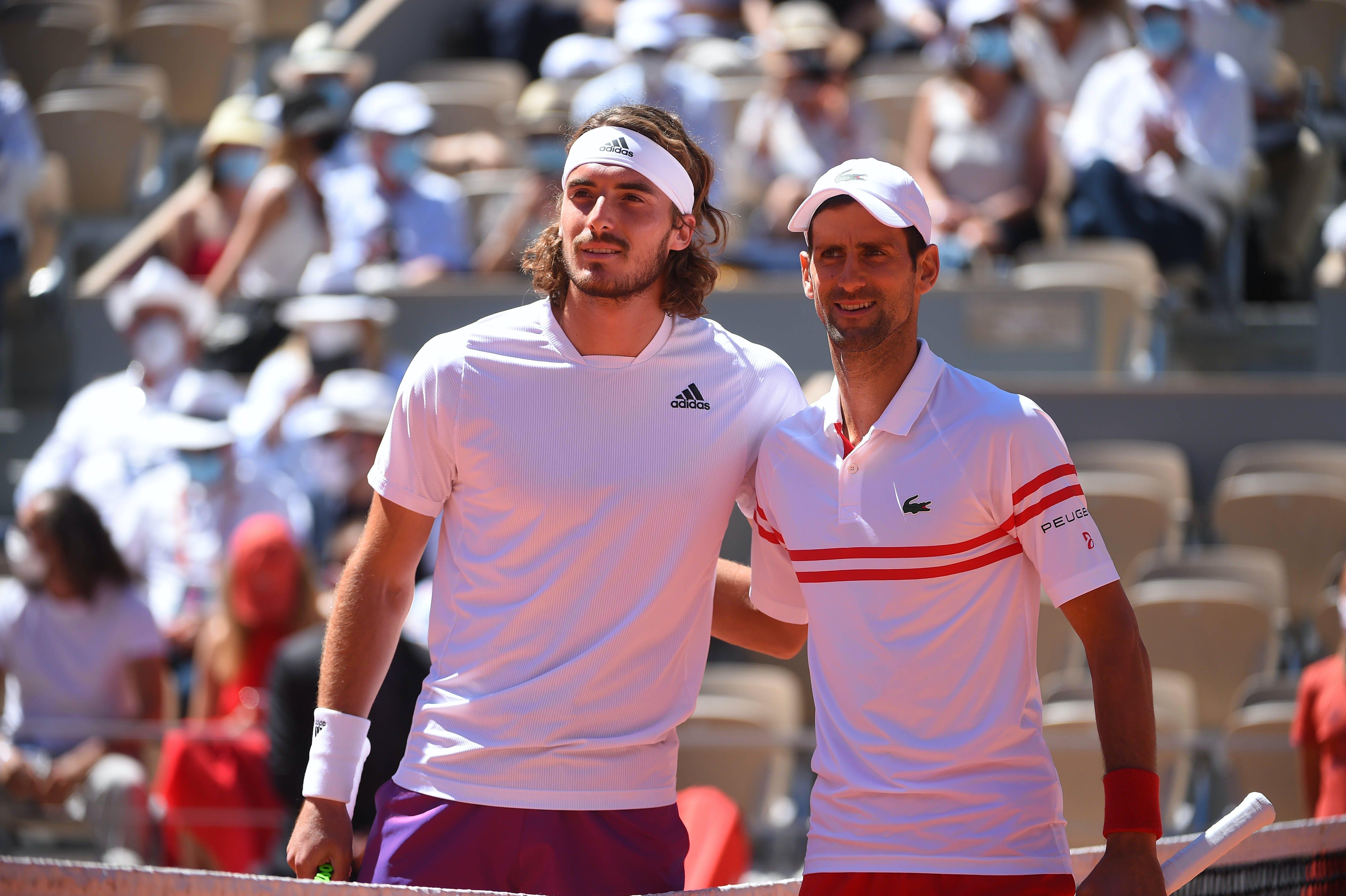 Stefanos Tsitsipas Novak Djokovic Roland-Garros 2021