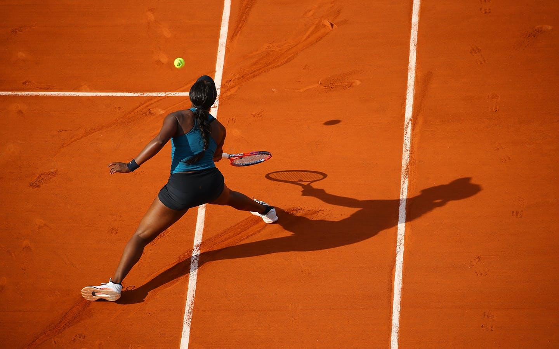 Sloane Stephens lors de sa demi-finale face à Madison Keys, Roland-Garros 2018