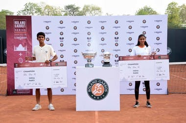 Siddhant Banthia et Rashmikaa S Bhamidiptay  vainqueurs en Inde des Roland-Garros Junior Wild-Card by Longines.
