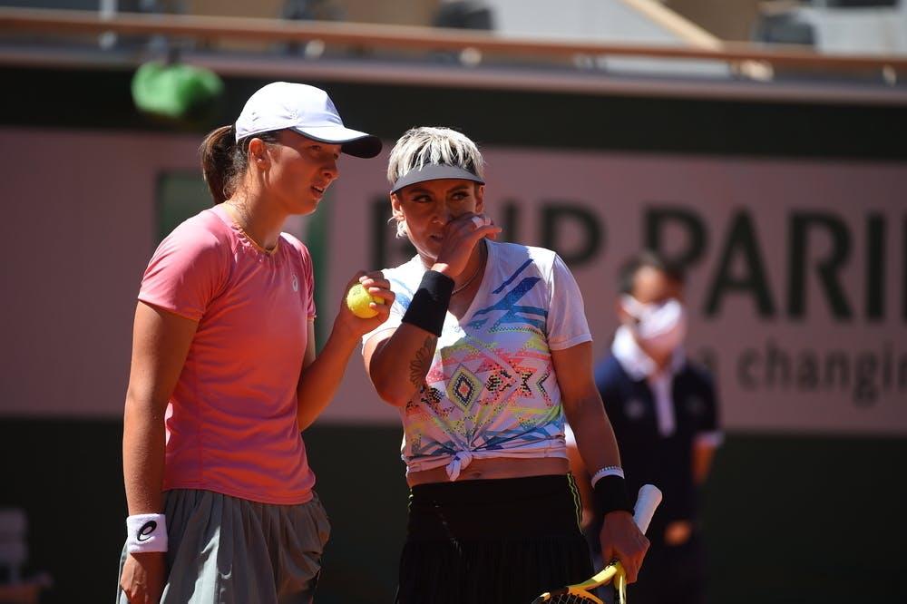 Iga Swiatek, Bethanie Mattek-Sands, Roland Garros 2021, doubles final