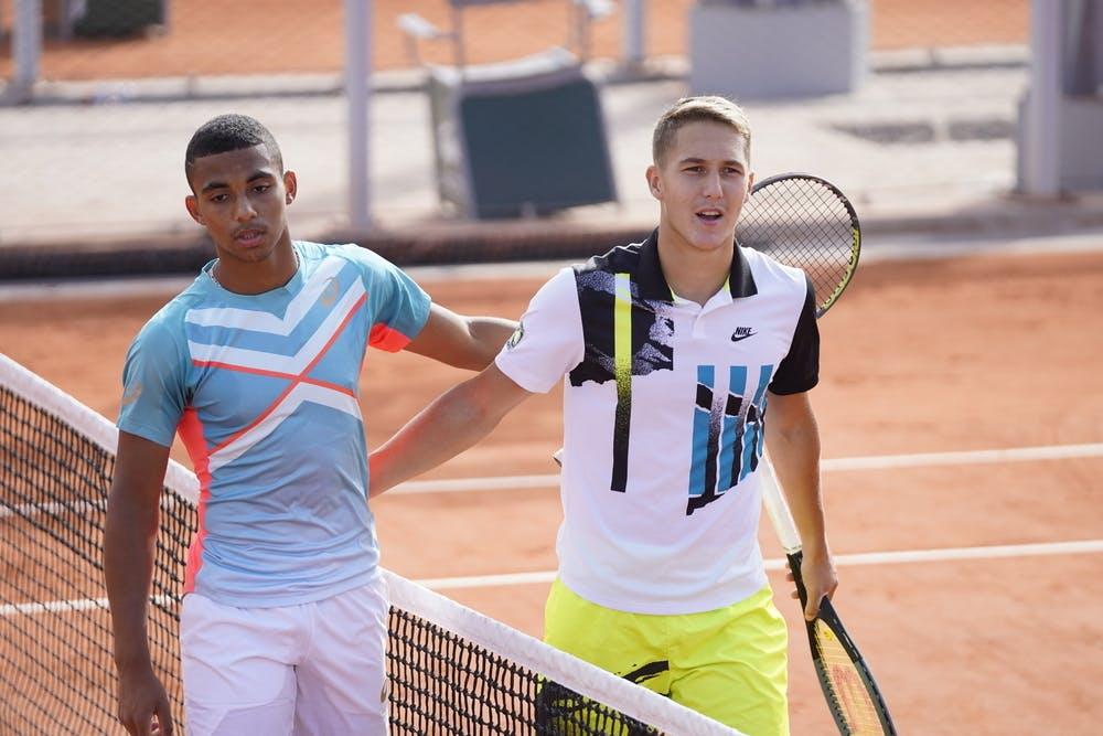 Sean Cuenin, Arthur Fils, Roland Garros 2020, juniors third round