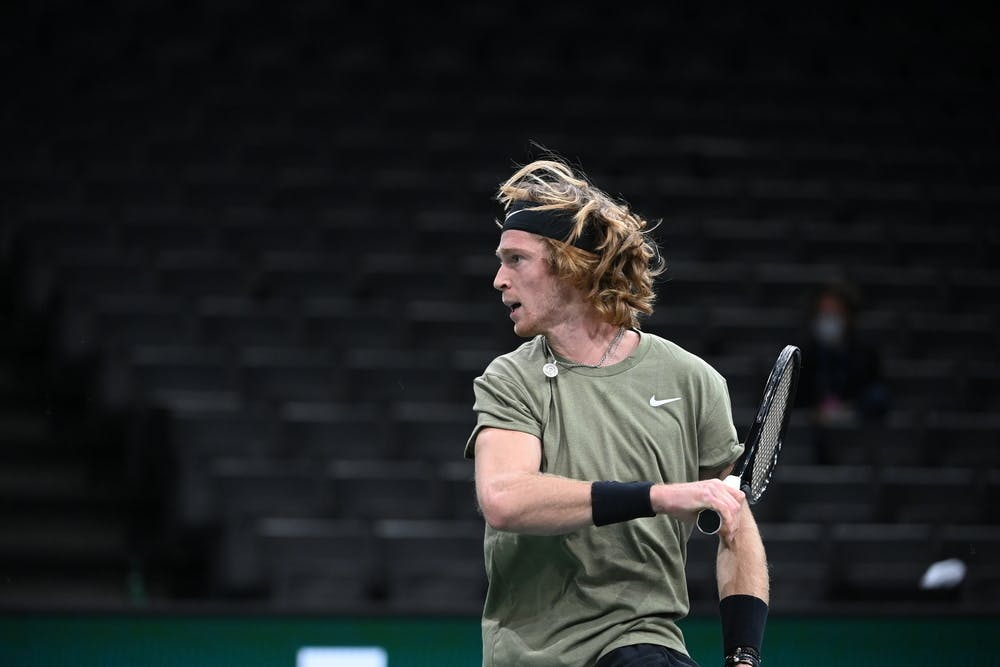 Andrey Rublev during the Rolex Paris Masters 2020