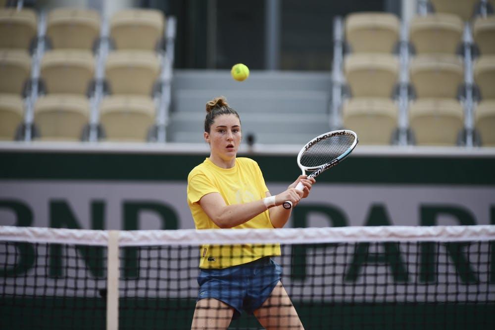 Elsa Jacquemot, Roland Garros 2021, practice