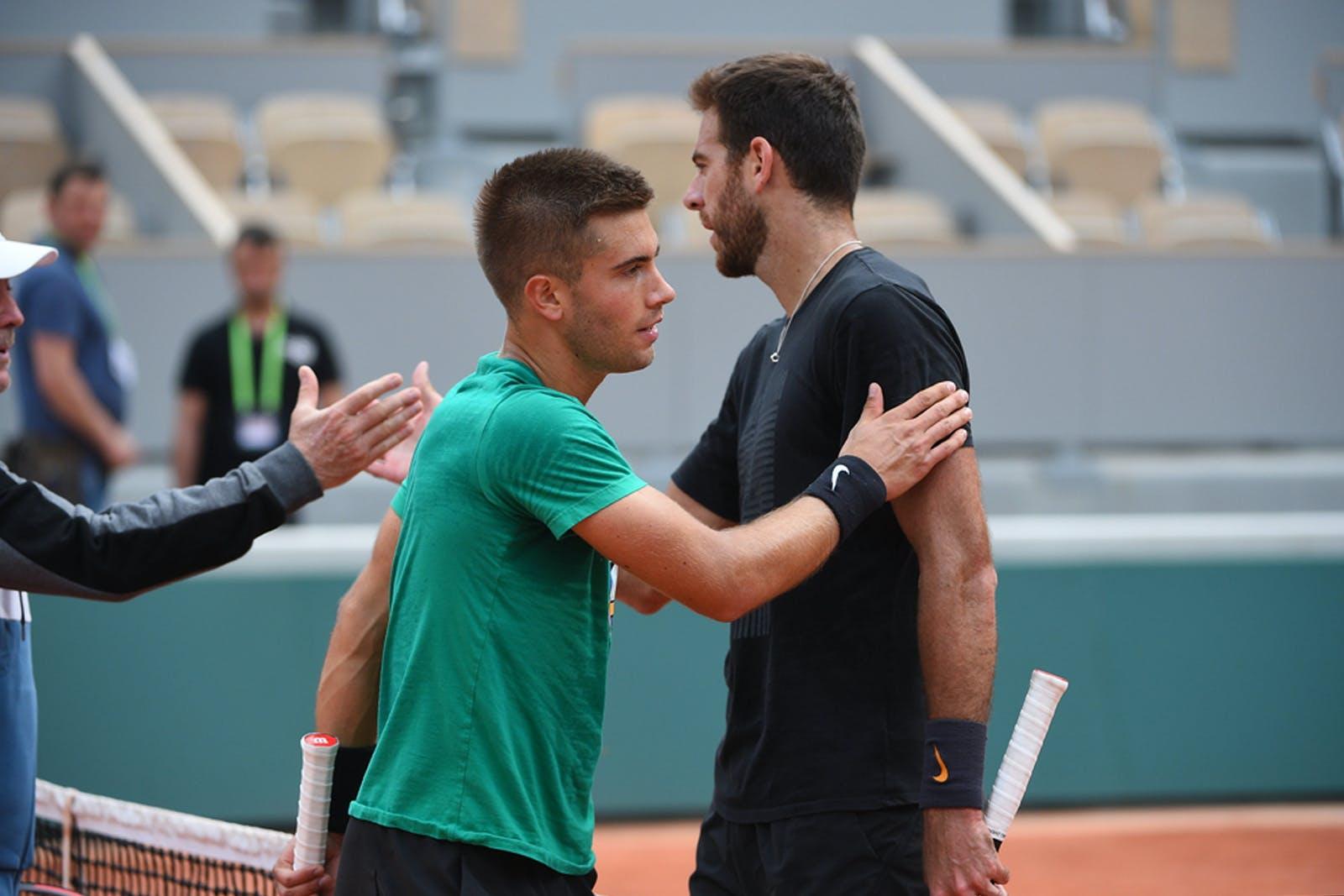 Borna Coric Juan Martin del Potro Roland Garros 2019