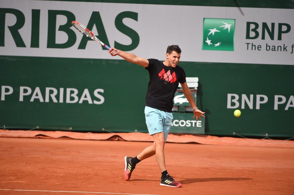Dominic Thiem - Roland-Garros 2019 - entraînement