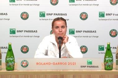 Sofia Kenin - Conférence de presse Roland-Garros 2021