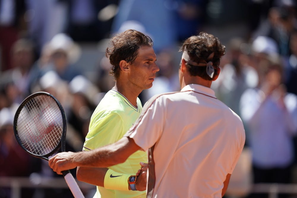 Rafael Nadal et Roger Federer à Roland-Garros 2019