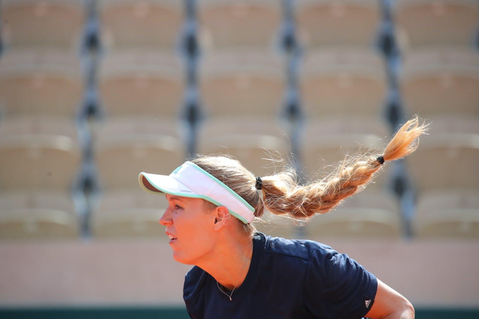 Roland-Garros 2019 - Caroline Wozniacki - entraînement